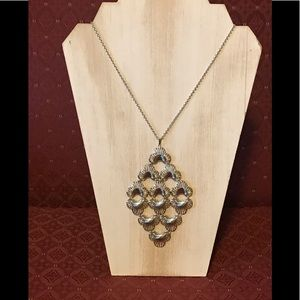 Sarah Coventry Silver Tone Chandelier Necklace
